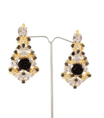 Sihiri Black Empress Earrings