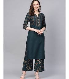 Printed Straight Kurta With Printed Palazzo