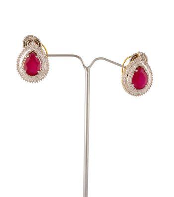 Sihiri Dazzling Pink CZ Earrings
