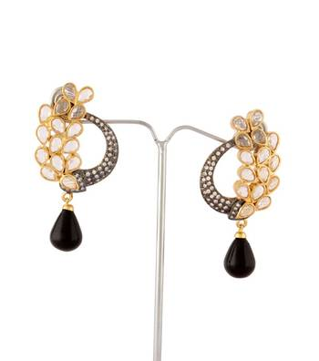 Sihiri Black Peacock Splendour Earrings