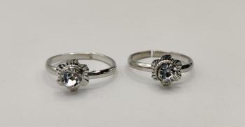 Silver toe-rings