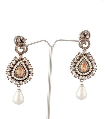 Sihiri Citrine Pearl Drop Earring