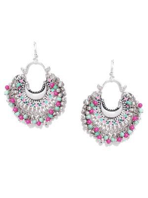 Infuzze Silver crystal earrings