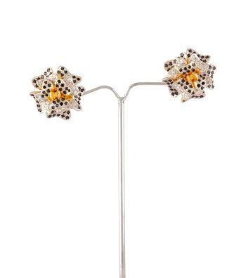 Sihiri Sparkling Floral Earrings