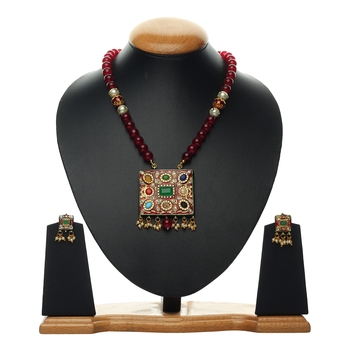 Red Agate Multicolor Necklace Sets