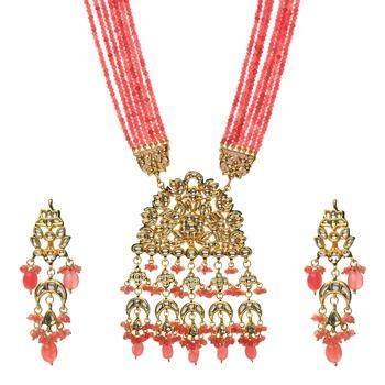 Pink Kundan Wedding Necklace Sets