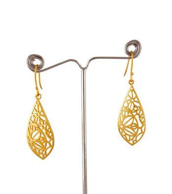 Sihiri Golden Mesh Drop Earrings 3