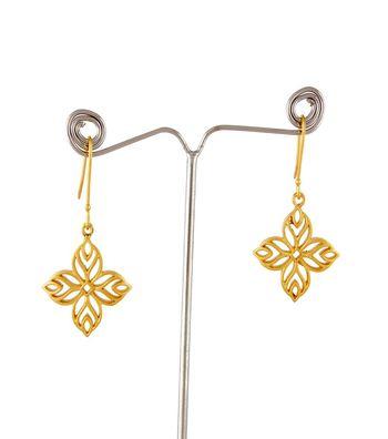Sihiri Golden Mesh Flower Earrings