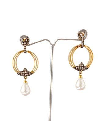Sihiri CZ Dangler Earring