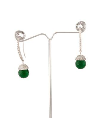 Sihiri Green Drop Earrings