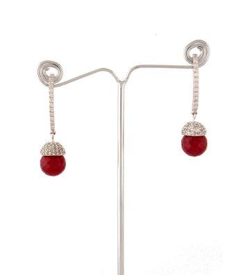 Sihiri Red Drop Earrings