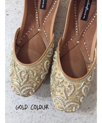 Bridesmaids Shoes, Wedding Shoes Flat, Indian Ethnic Party Shoes, Women Mojaris