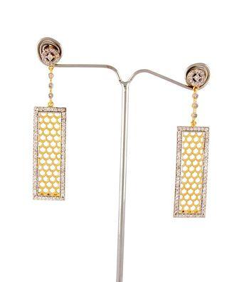Sihiri Golden Mesh Drop Earrings