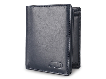 Genuine High Quality Blue Leather Wallet for Men