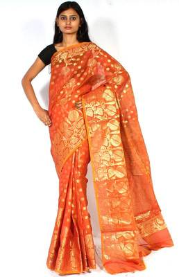 Dupion Silk Banarasi Saree