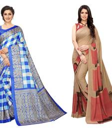Combo Of 2 Printed Georgette & Art Silk Saree With Blouse