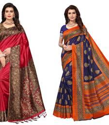 Combo Of 2 Art Silk Saree With Blouse