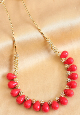 Beautiful Handmade Red Necklace