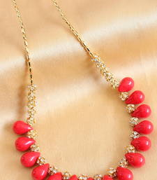 Buy BEAUTIFUL HANDMADE RED NECKLACE-DJ04002 Necklace online