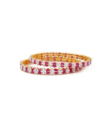 Sihiri Pink And White Bangles