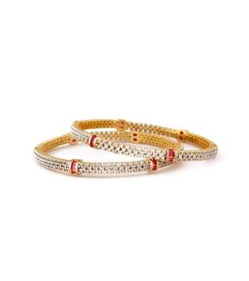 Sihiri Pink And White Delight Bangles