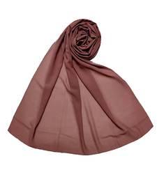 Purple Best Seller Premium Chiffon Plain Stole  Stole For Women