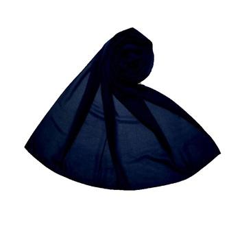 Blue Best Seller Premium Chiffon Plain Stole  Stole For Women