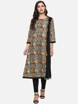 Women's Cotton Kalamkari A-Line Anarkali Kurta