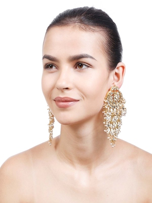 Malvika Kundan Chandbali Earrings