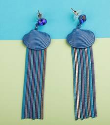 Spunky Blue Tassel Earrings For Women