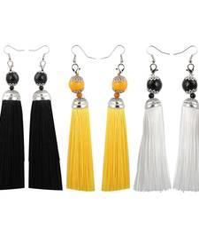 Partywear Different Multi Colour Tassel Earrings Combo Set Set Pair Of 3 For Girls And Women Jewellery