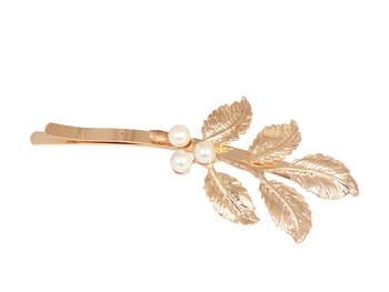 Leaves with Pearl Twist Hair Pin