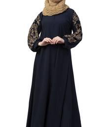 Blue Plain Kashibo Kaftan And Hijab