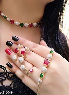 Multicolor stone jewellery Set