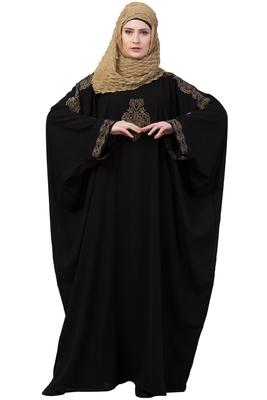 Rani Black Kaftan Abaya