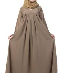 Beige Color A Pleated Sleeve Abya