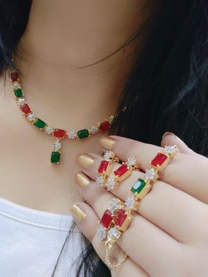 multicolor american diamonds necklace sets