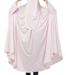 Pink Plain Polyester Abaya