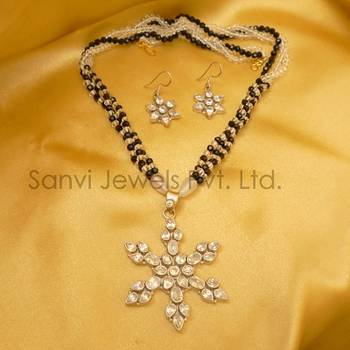 Silver American Diamond Necklace