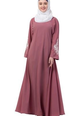 pink nida plain abaya