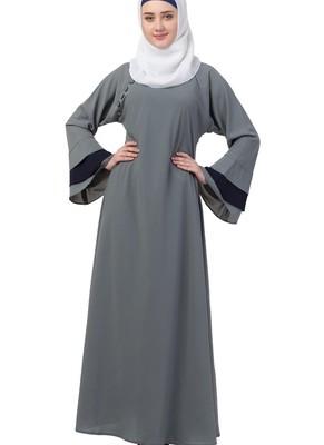Grey Nida Plain Abaya