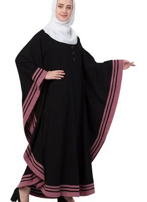 black nida plain abaya