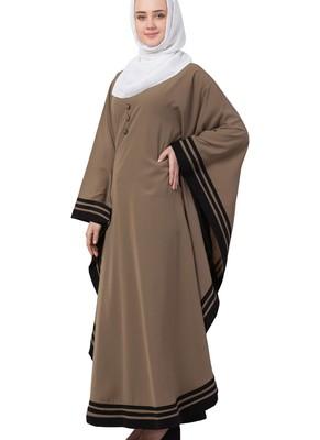 beige nida plain abaya