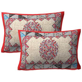 "100% Cotton Printed Pillow Cover Set(2 Pieces)-27""x17"""