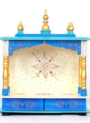 Blue Color Beautiful Pooja Temple