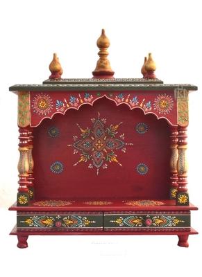 Red Color Pooja Mandir