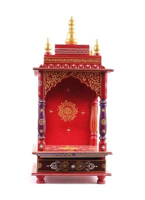 Red Color Designer Wooden Temple