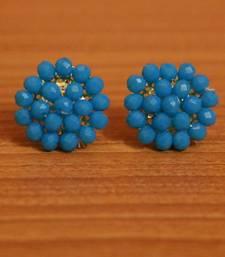 Turquoise Swarovski Crystal Studs