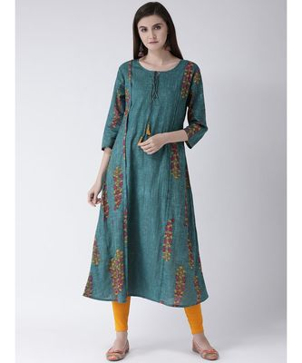 Women Cotton Flared Kurta