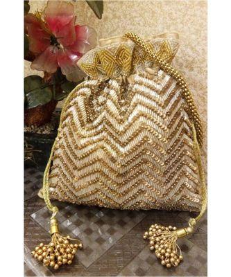 Golden Potli Bag